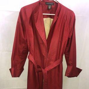 Banana Republic Trench Coat Women's Red